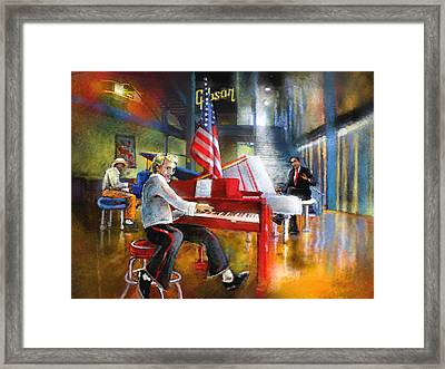 Memphis Nights 04 Framed Print by Miki De Goodaboom