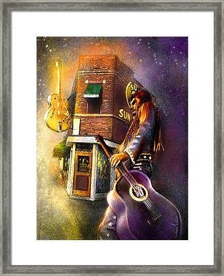 Memphis Nights 06 Framed Print by Miki De Goodaboom