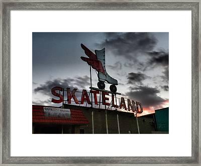 Memphis - Skateland 001 Framed Print