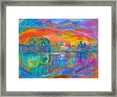 Memphis Spin Framed Print
