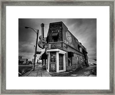 Framed Print featuring the photograph Memphis - Sun Studio 004 Bw by Lance Vaughn