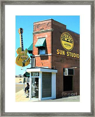 Memphis Sun Studio Birthplace Of Rock And Roll 20160215 Framed Print by Wingsdomain Art and Photography