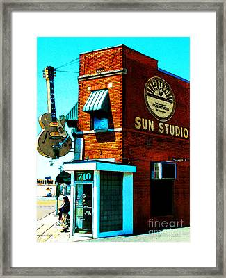 Memphis Sun Studio Birthplace Of Rock And Roll 20160215sketch Framed Print by Wingsdomain Art and Photography