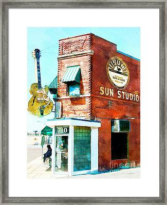 Memphis Sun Studio Birthplace Of Rock And Roll 20160215wcstyle Framed Print by Wingsdomain Art and Photography