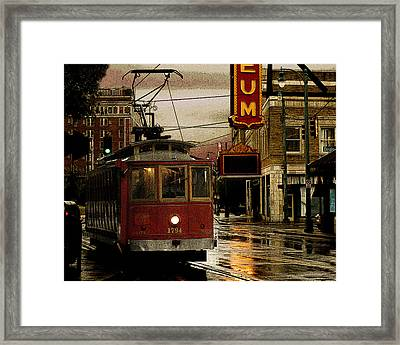Memphis Tennissee Streetcar Framed Print by Don Wolf