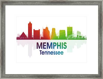 Memphis Tn Framed Print by Angelina Vick