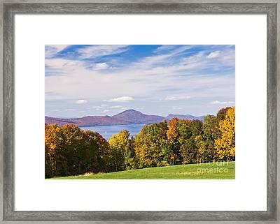 Memphremagog Autumn Framed Print by Alan L Graham