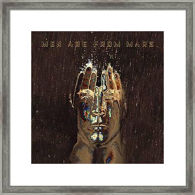 Men Are From Mars Gold Framed Print