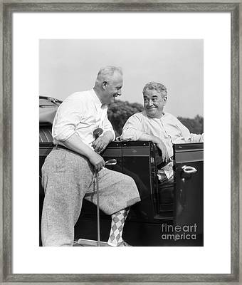 Men At The Golf Course, C.1920-30s Framed Print by H. Armstrong Roberts/ClassicStock