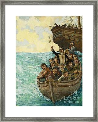 Men In A Boat Framed Print