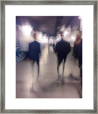 Men In Suits Framed Print