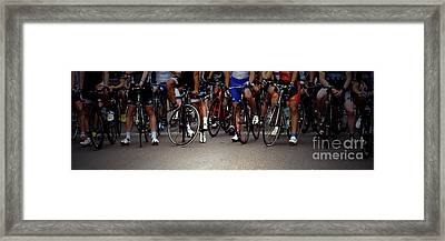 Men In Waiting Framed Print by Steven  Digman