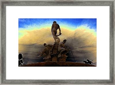 Men Of Greece Framed Print by David Lee Thompson