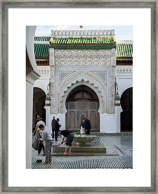 Men Performing Ablutions Prior Framed Print by Panoramic Images