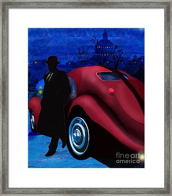 Men With Hats 1 Framed Print by Sydne Archambault