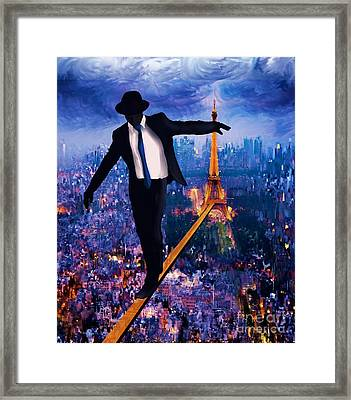 Men With Hats 2 Framed Print