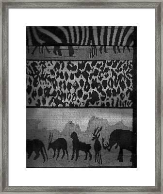 Menagerie Parade  Framed Print by Anne-Elizabeth Whiteway