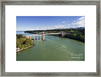 Menai Bridge 1 Framed Print by Steev Stamford