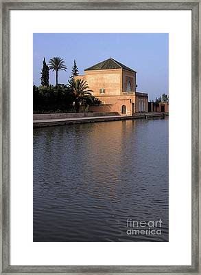 Menara Pavilion In Marrakech Framed Print by Sami Sarkis