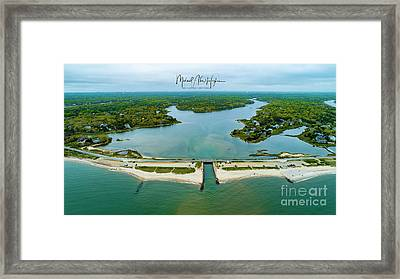 Menauhant Beach Framed Print
