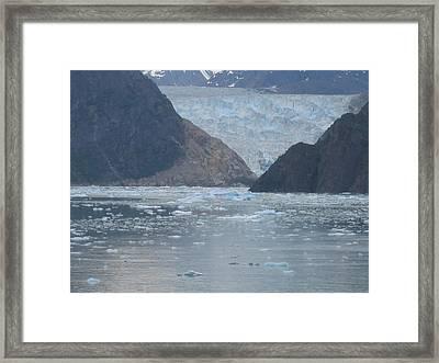 Mendenhall Glacier  Alaska Framed Print by Barb Morton