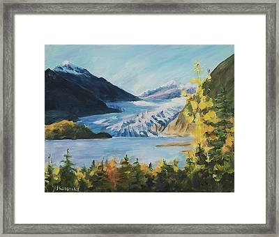 Mendenhall Glacier Juneau Alaska Framed Print