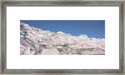 Framed Print featuring the photograph Mendenhall Glacier Panoramic by Kristin Elmquist