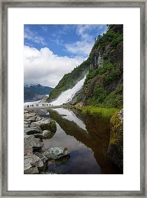 Mendenhall Waterfall Framed Print