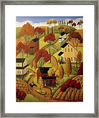 Mending Fences Framed Print