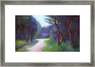 Mendocino Blue Framed Print