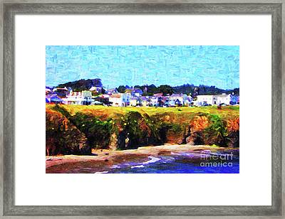 Mendocino Bluffs Framed Print