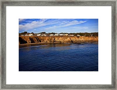 Mendocino Coastal Town Framed Print by Garry Gay