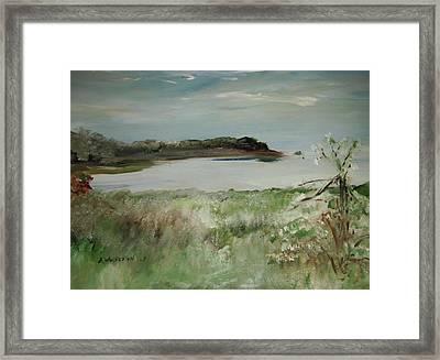 Mendocino Coastline Framed Print by Edward Wolverton