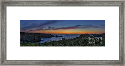 Mendocino Headlands Sunset Framed Print