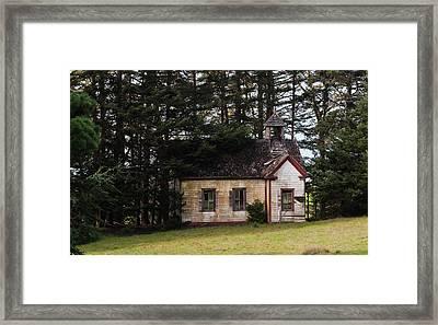 Mendocino Schoolhouse Framed Print by Grant Groberg