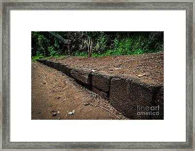 Menehune Ditch Kauai Framed Print