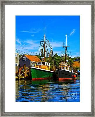 Menemsha Harbor Framed Print