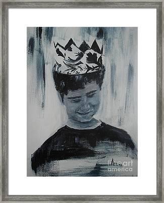 Menino Framed Print by Ana Picolini