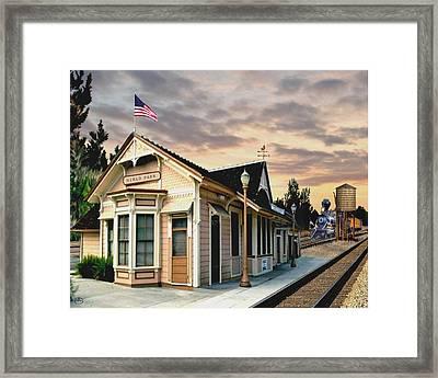 Menlo Park Station Framed Print