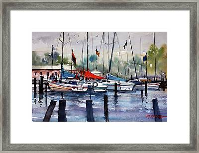 Menominee Marina Framed Print by Ryan Radke