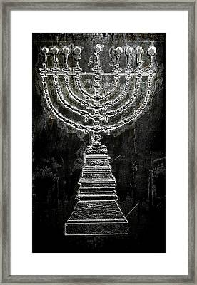 Framed Print featuring the photograph Menorah by Aaron Berg