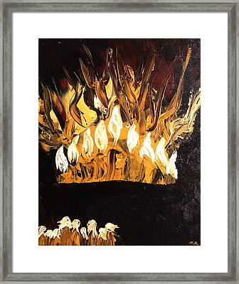 Menorah Framed Print by Marla Bender