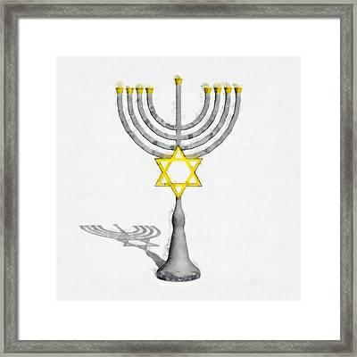 Menorah Framed Print