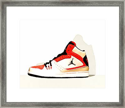 Mens Air Jordan High Tops 20160227 Horizontal Framed Print by Wingsdomain Art and Photography