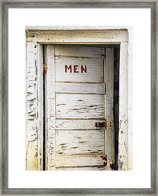 Men's Room Framed Print by Marilyn Hunt