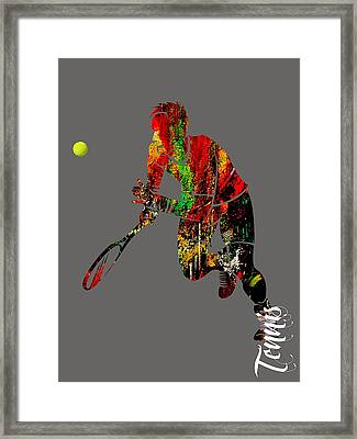 Mens Tennis Collection Framed Print by Marvin Blaine