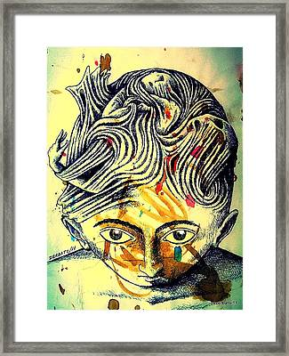 Mental Agitation Framed Print by Paulo Zerbato