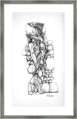 Mental Images 1 Framed Print by Padamvir Singh