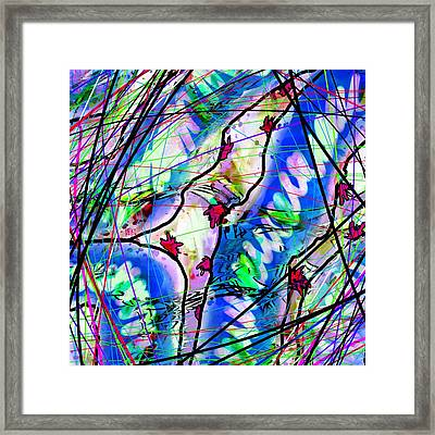 mentally ill with Red things Framed Print by Rachel Christine Nowicki