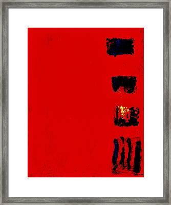 Menu Framed Print by Marsha Heiken
